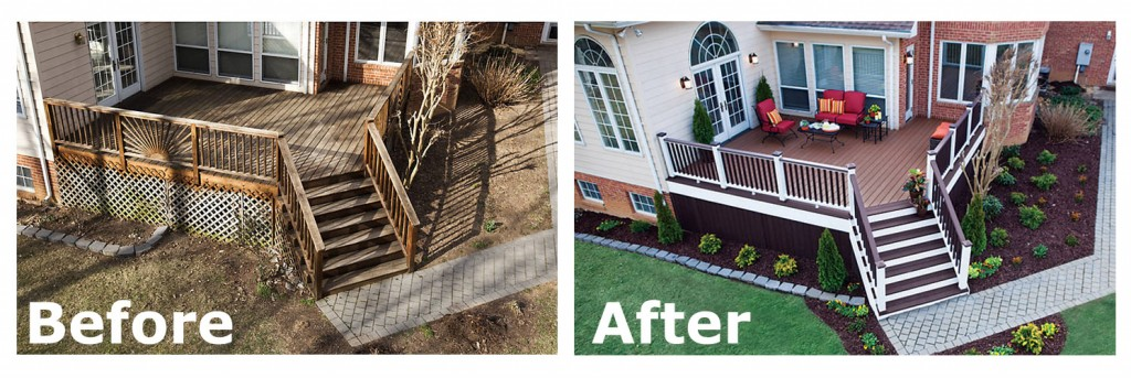 You can see how a a new deck can be like a face lift for a house. Let us help you make it happen